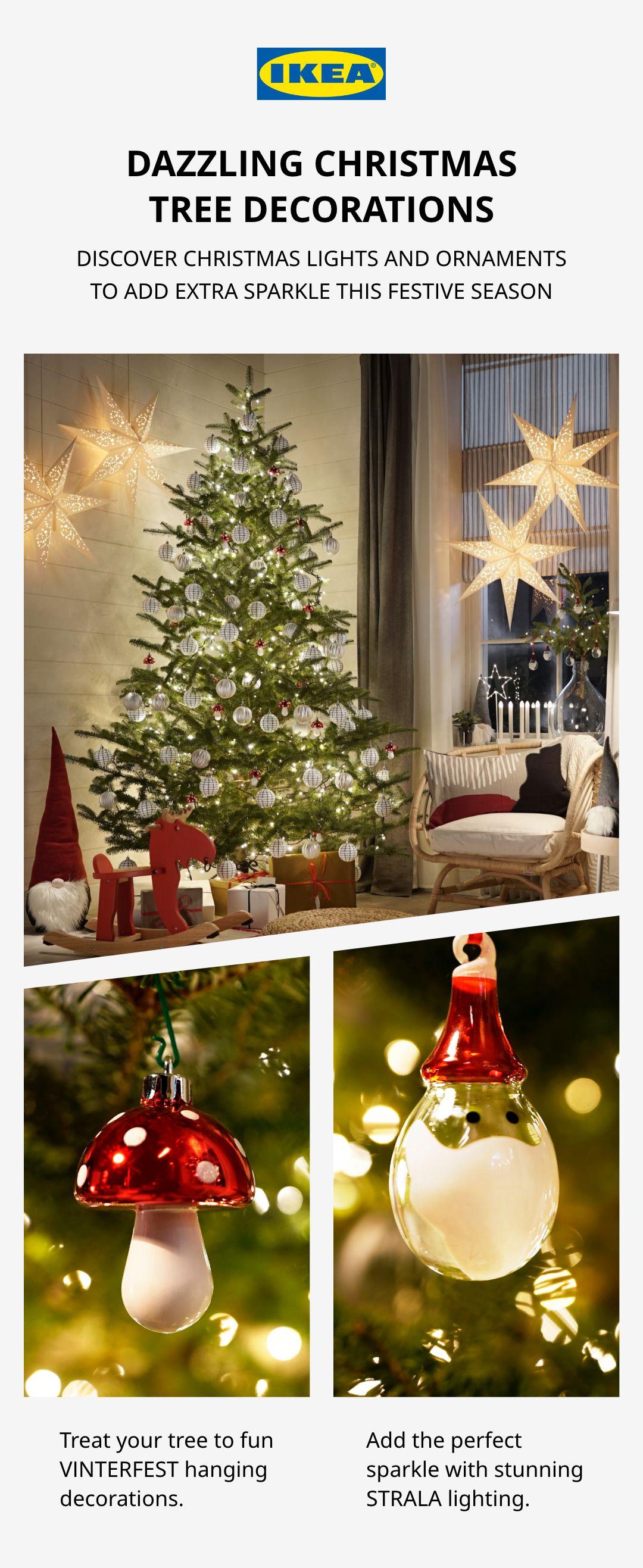 Dazzling Christmas tree decorations