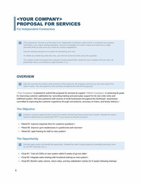 Microsoft Word Proposal Template Free Download Node2003 Cvresume