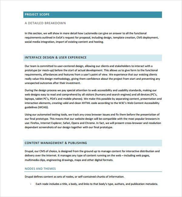 Web Application Proposal Template Web Design Proposal Sample - freelance proposal template