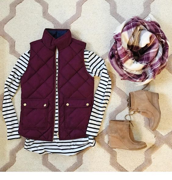 Fall outfit with vest