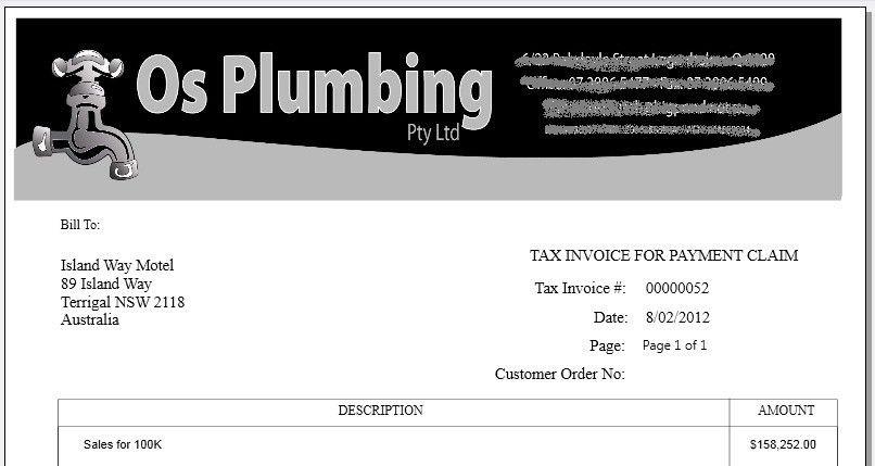 free plumbing invoice template plumbing invoice template free