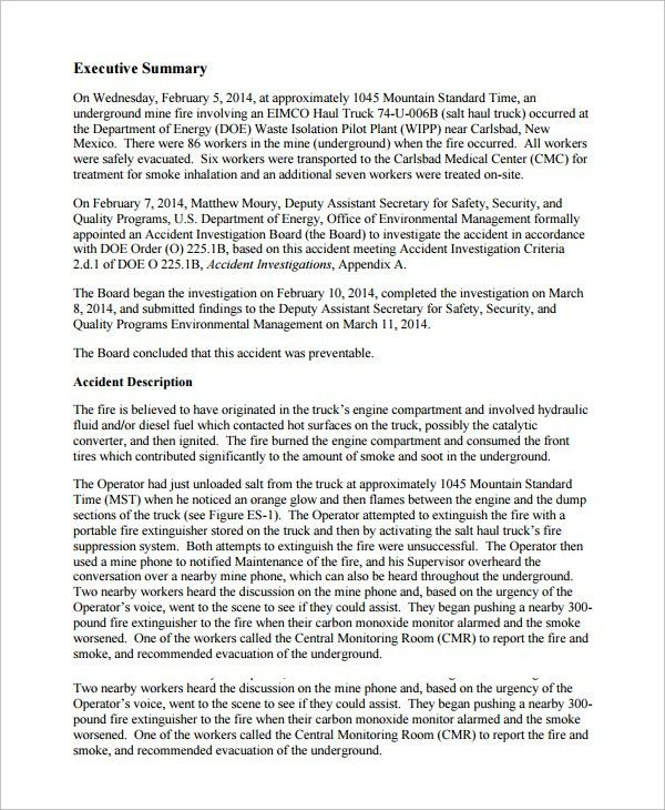 safety report sample cvessayoneprofessional - safety report sample