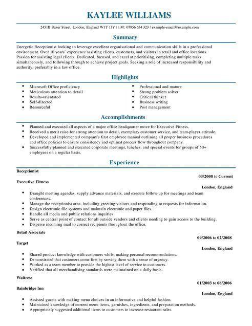 Medical Office Skills Professional Medical Receptionist Resume - medical office receptionist resume