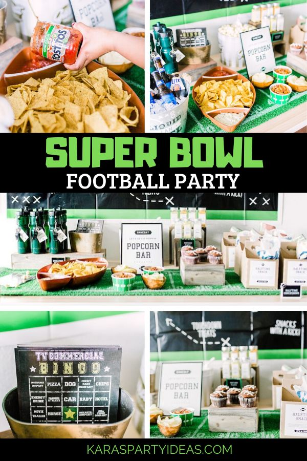 Kara's Party Ideas Super Bowl Football Fun Party | Kara's Party Ideas