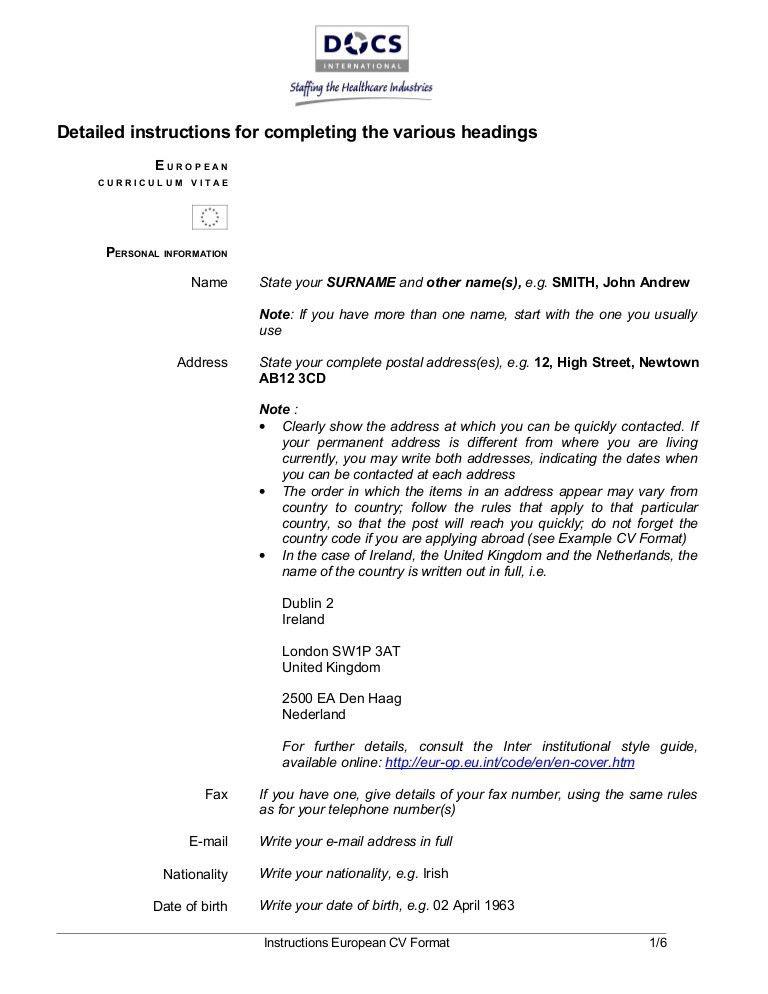 european resume template best 25 format cv ideas on pinterest resume style guide