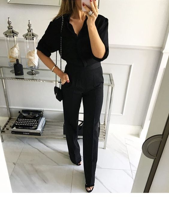 All black for work