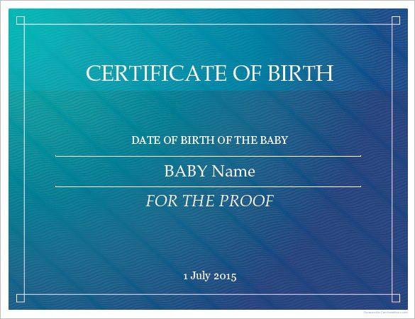 Online Certificates Templates Create Powerpoint Certificate - sample birth certificate template