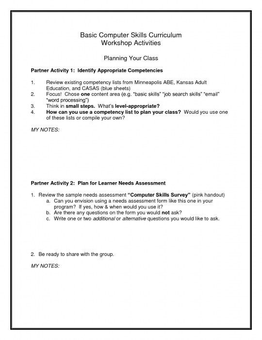 Examples Of Computer Skills For Resume - Examples of Resumes