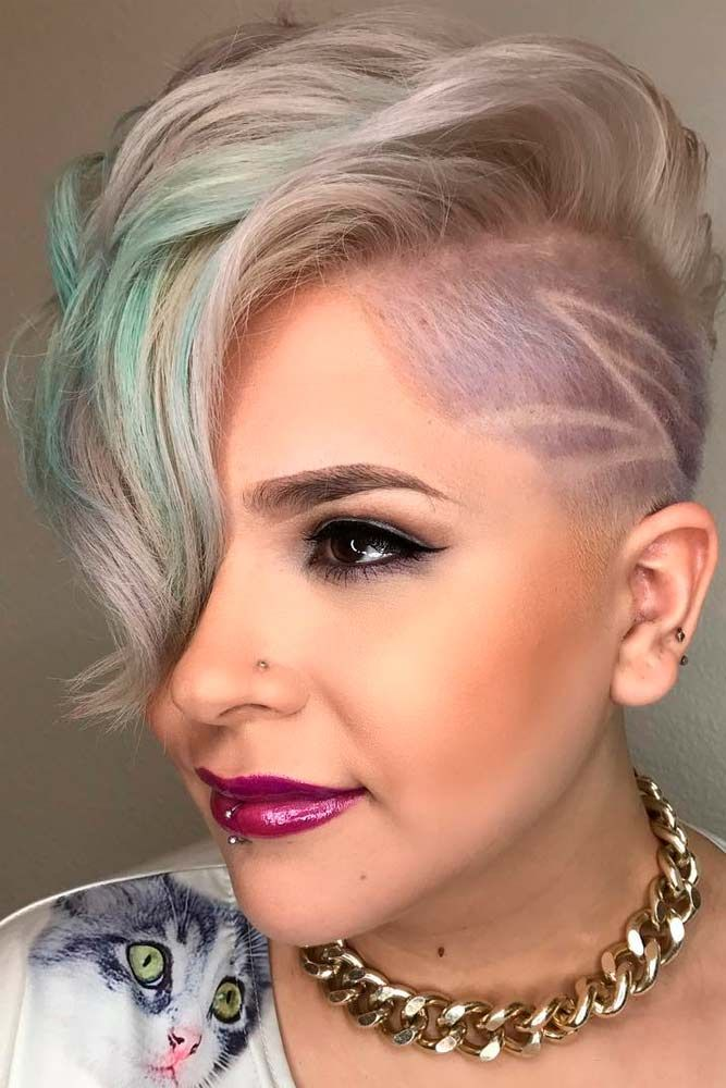 Punk Princess #pixiehair #shavedhair ★ Short hairstyles for women have caused a lot of stir in 2019. Want to know what they are? You can find all of them in our exclusive photo gallery, which includes a layered bob, a messy pixie cut, cute Dutch braids and many more.  #glaminati #lifestyle #shorthairstyles