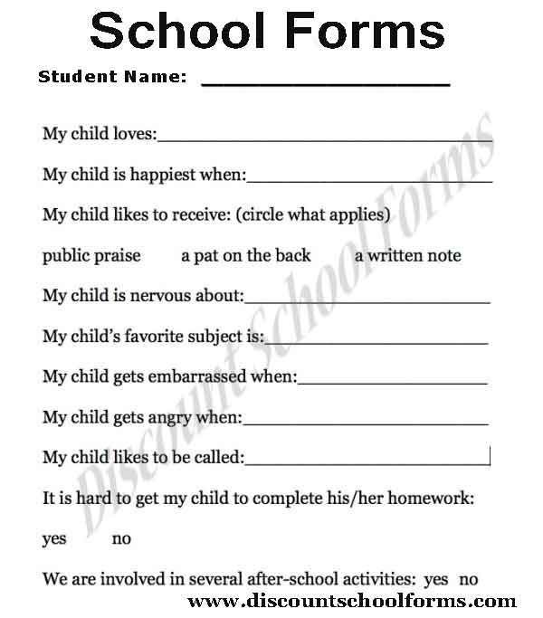 Admission Form School School Admission Form Free Printable Word - format of admission form