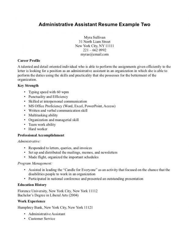 Career Profile Examples For Resume How To Write A Professional