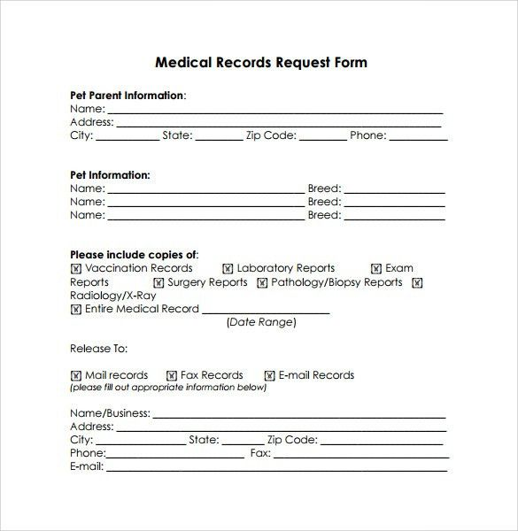 Free Sample Request Form 5 Request Form Templates Formats - medical records release form