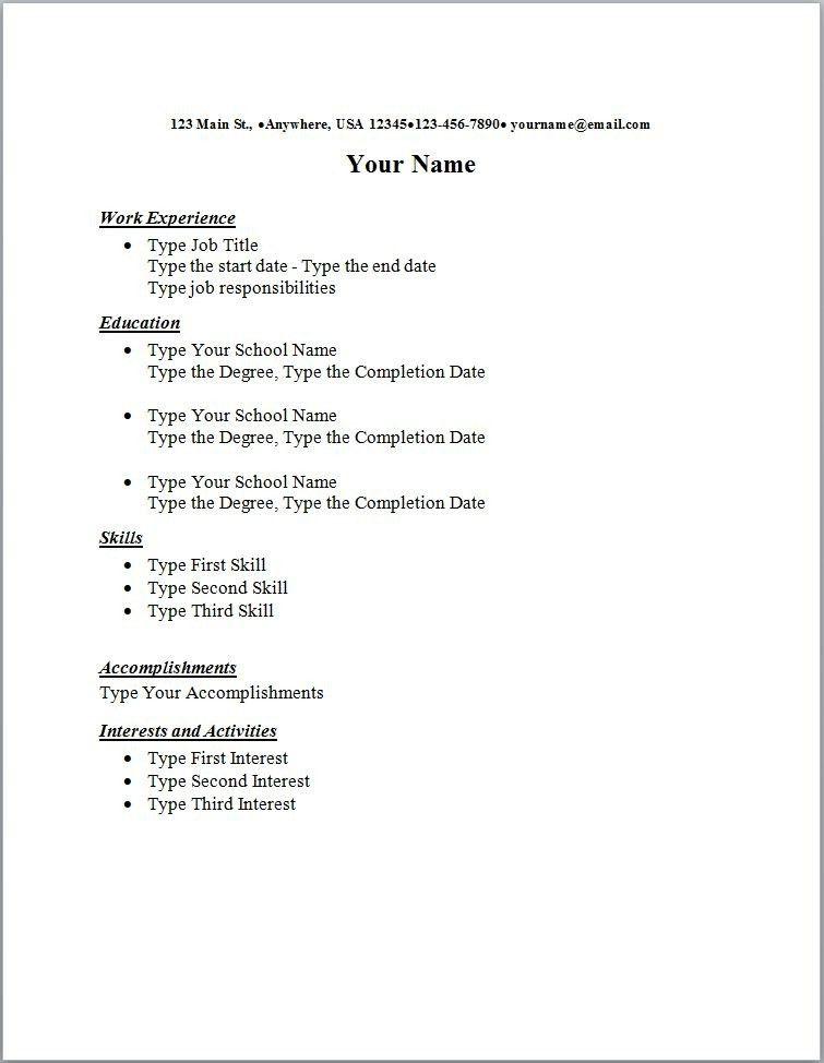 Standard Resume Standard Resume Templates To Impress Any Employer
