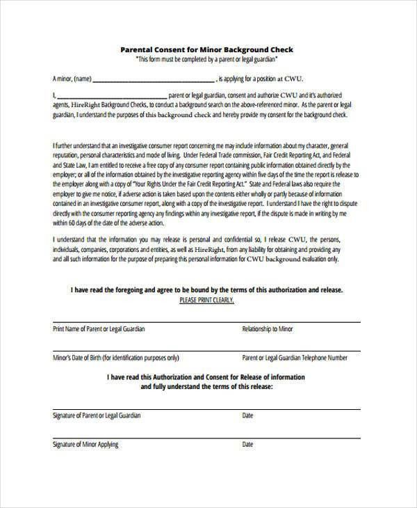 Release Of Personal Information Form Form Mv 15gc General Consent - background check consent forms