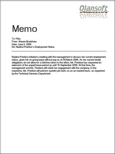 office memo templates