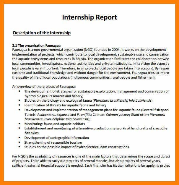 Template Report Writing Sample Report Writing Format 31 Free - sample internship report template