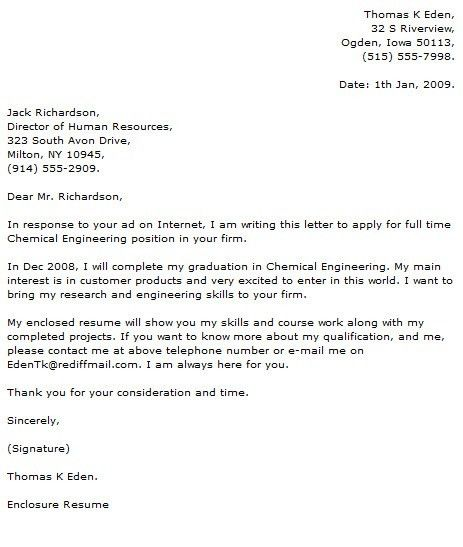 Water resource engineer cover letter