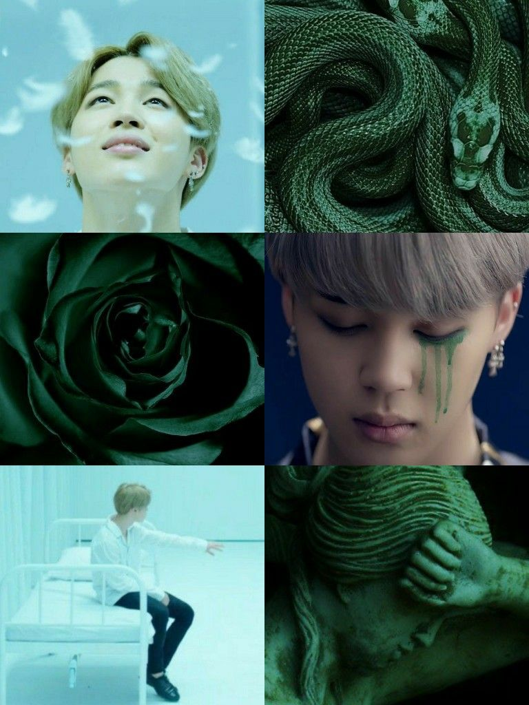 Jimin Green Aesthetic Bts Green Aesthetic Green Wallpaper Green Hair