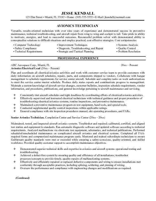 Resume It Technician Repair Technician Resume, Click Here To - sample hvac resume