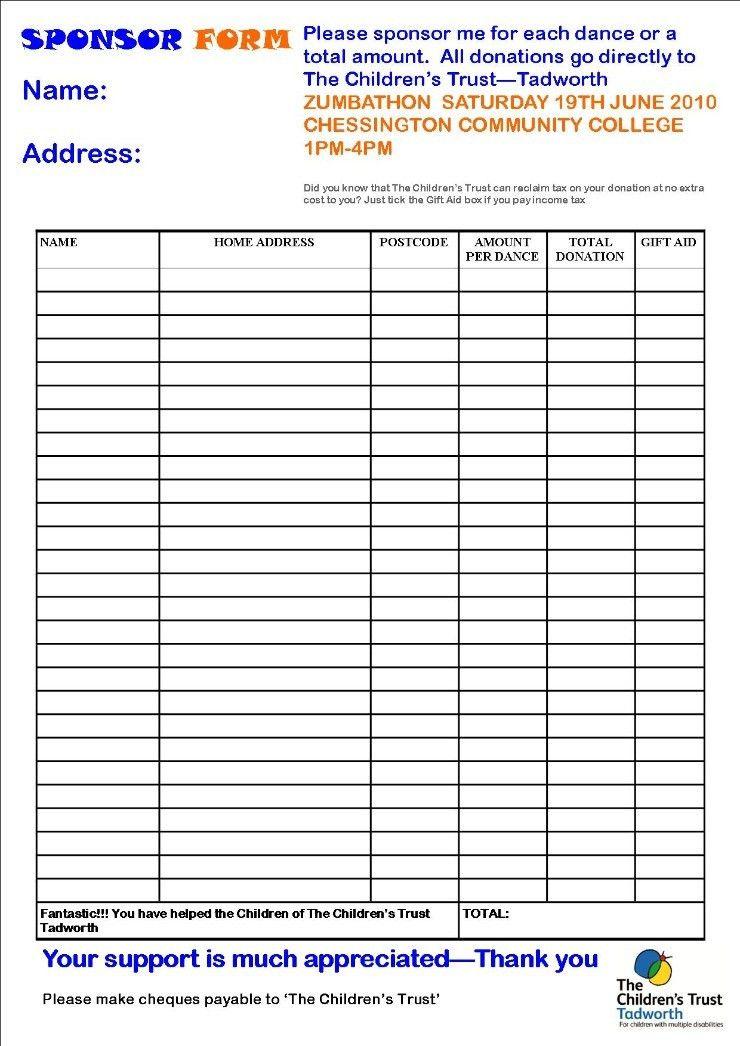 fundraising forms templates node2003-cvresumepaasprovider - generic sponsorship form