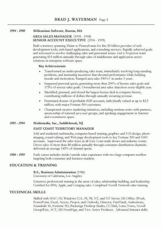 resume title for sales