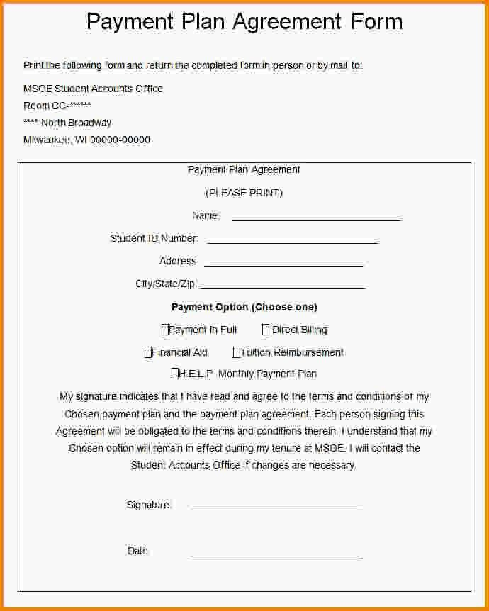 Payment Agreement Template - Eliolera - monthly payment contract template