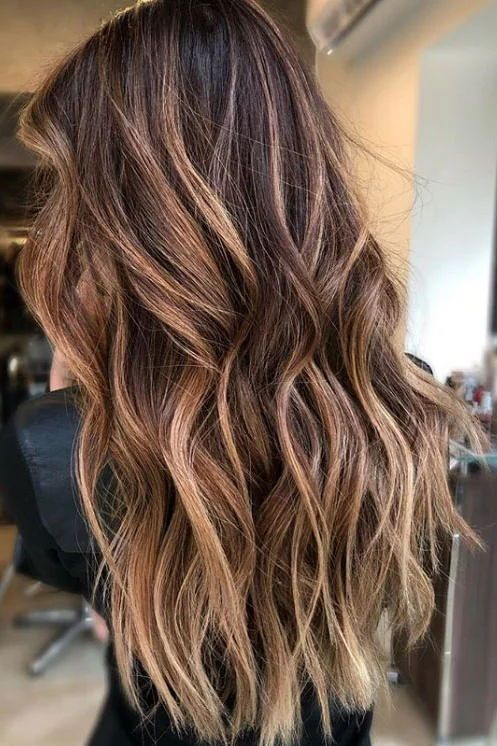 Cinnamon Balayage | Warm up your strands even more for the winter months by coating them in a rich cinnamon-caramel shade. #hairtrends #colortrends #southernliving #caramelhair