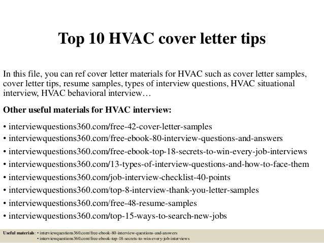 Sample Hvac Technician Cover Letter Hvac Technician Cover Letter - sample hvac resume