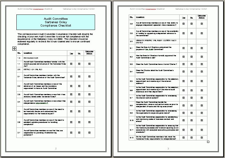 Audit Template Sample 14 Internal Audit Report Templates Free - audit checklist template