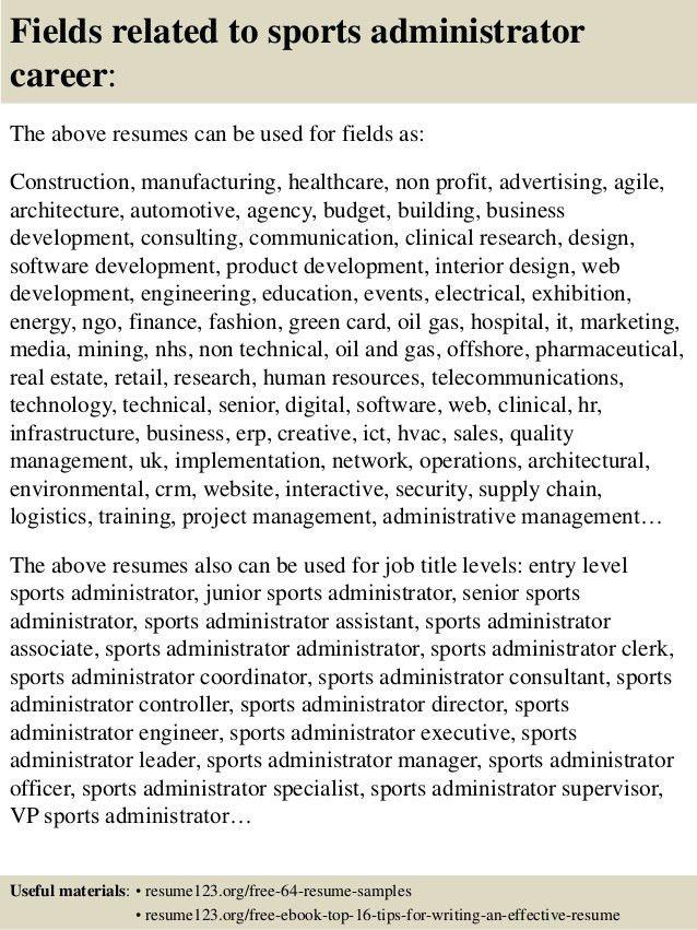 sample resume for marketing or marketing management sports