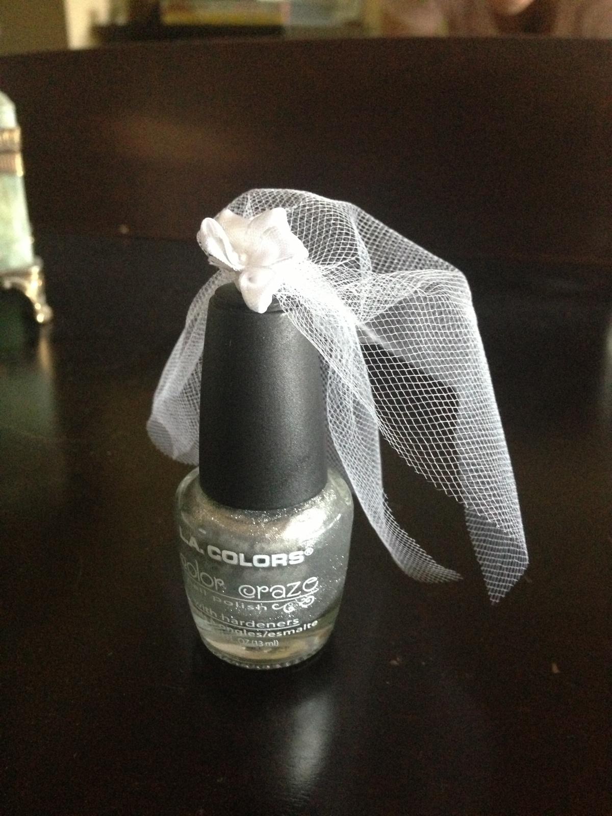Bridal Shower Veil Nail Polish Favors That I Made
