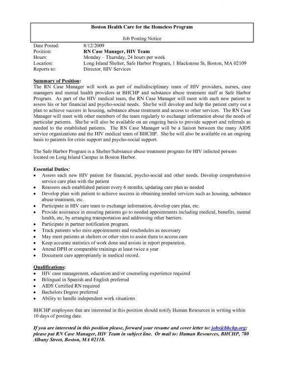 Rn Case Manager Resume | Env 1198748 Resume.cloud .