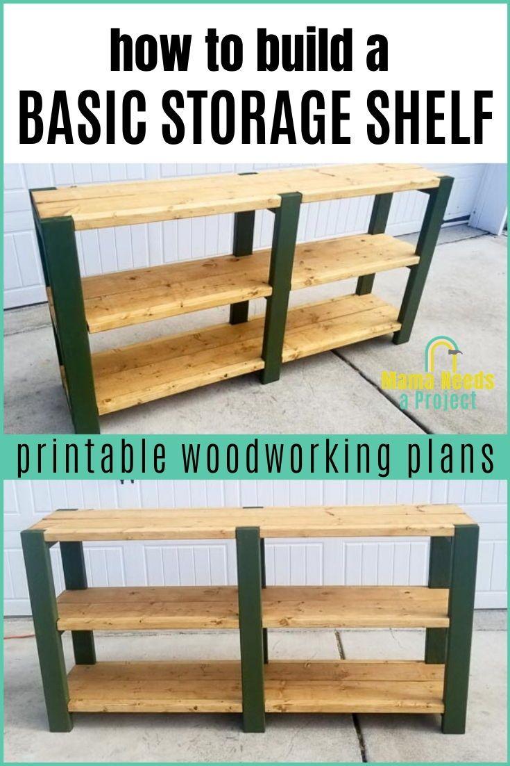 Basic Storage Shelf Plans | Build a Simple Storage Shelf | Mama Needs a Project