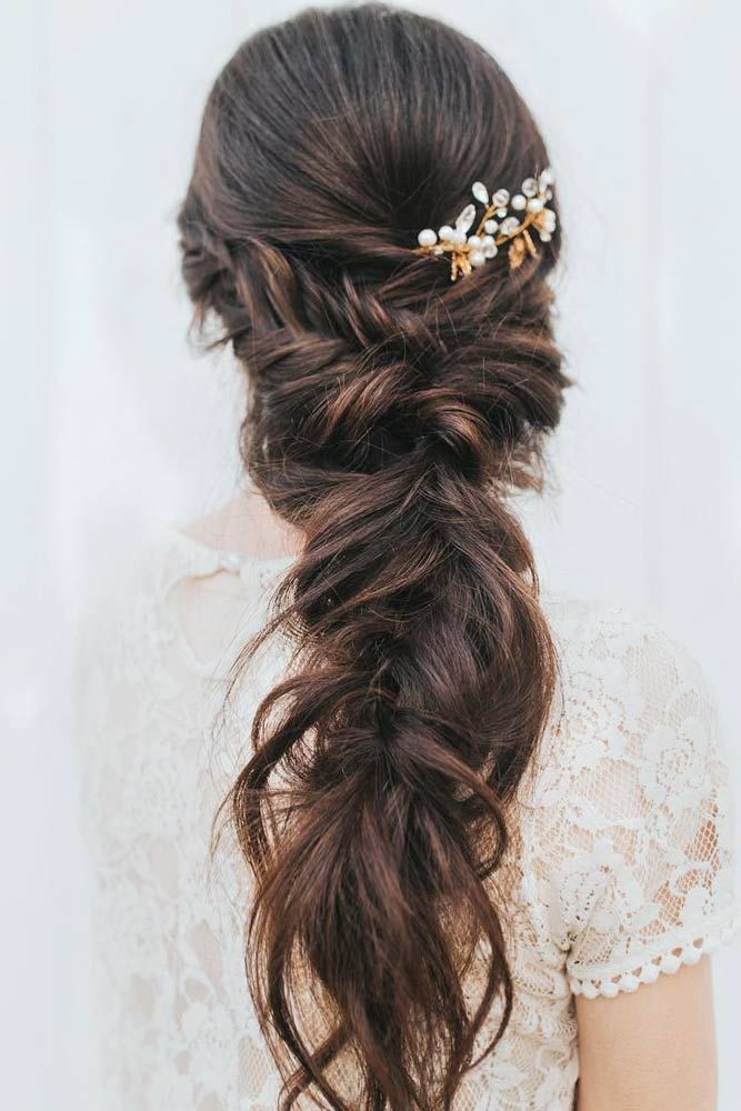 Messy Braided Prom Hairstyles #braidedhairstyles #messyhairstyles ★ It is time to start looking through hairstyles for prom as this special event is coming up. We have followed the trends to share them with you. #glaminati #lifestyle #chichairstylesforprom