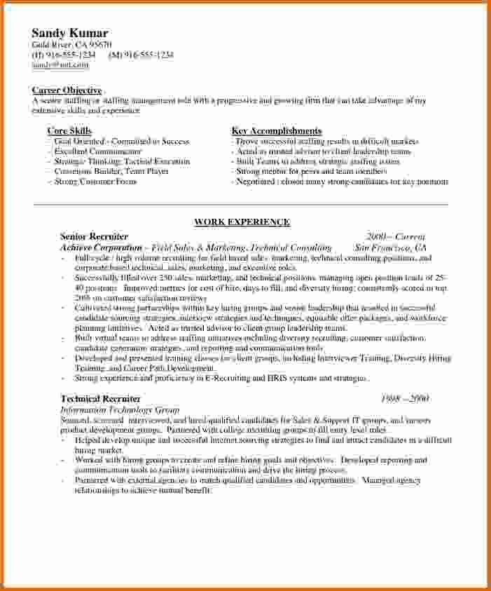 technical recruiter resume