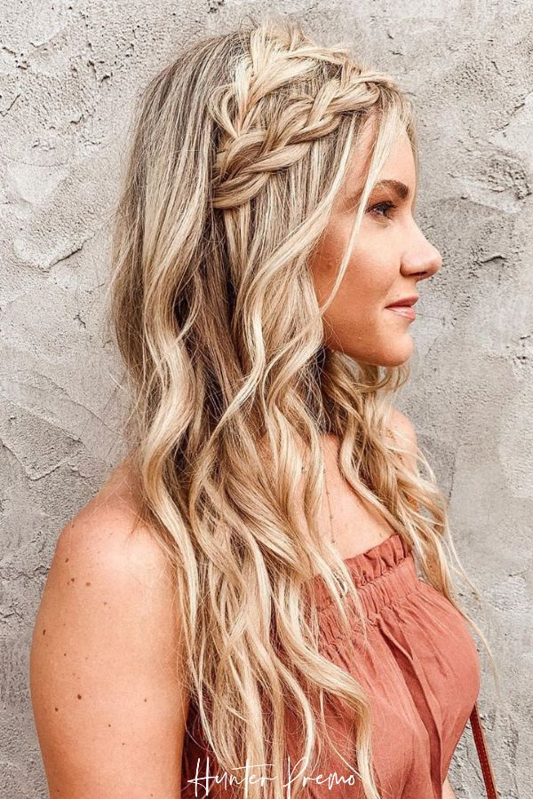 Boho hairstyle for long hair with Braids. Hunter Premo Hair Inspiration. #HunterPremo #Hairstyle #HairInspiration #braids #BohoBraids #BohoStyle
