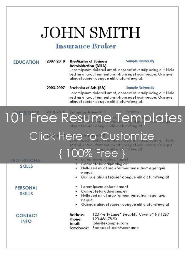 resume templates 101 premium resume templates and samples
