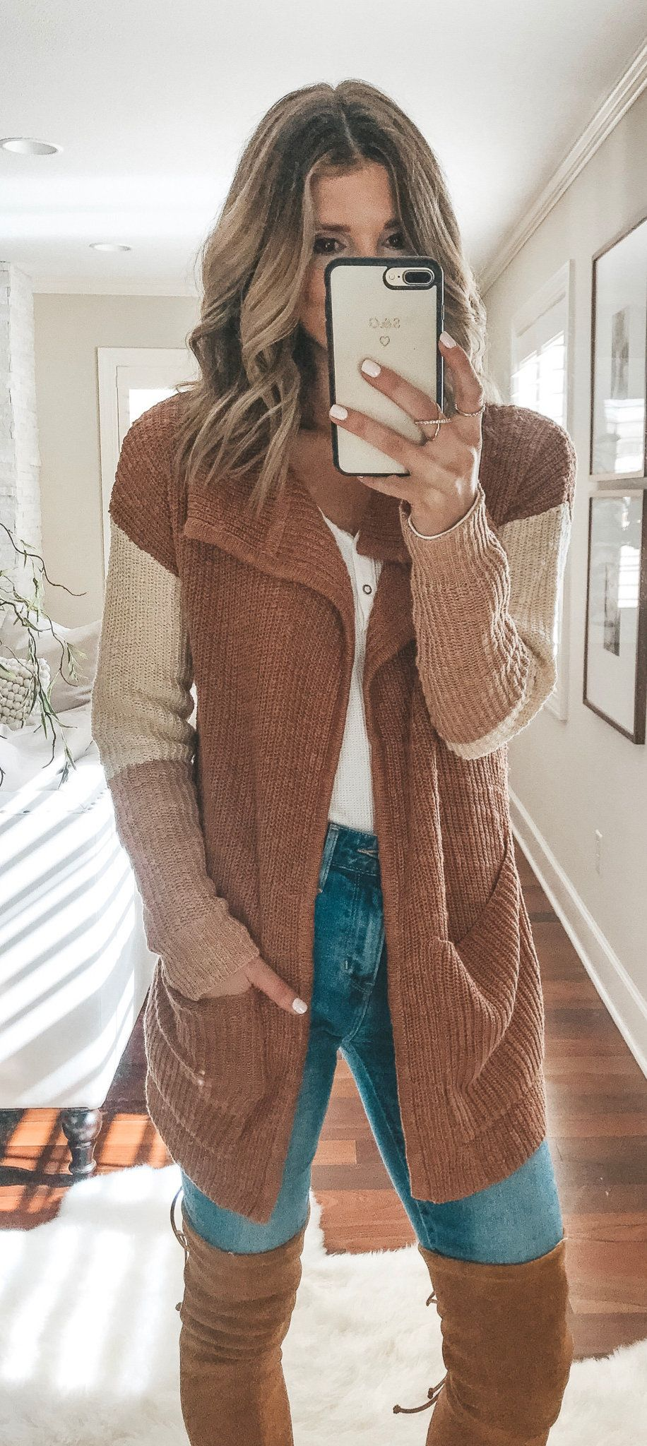 brown and beige jacket