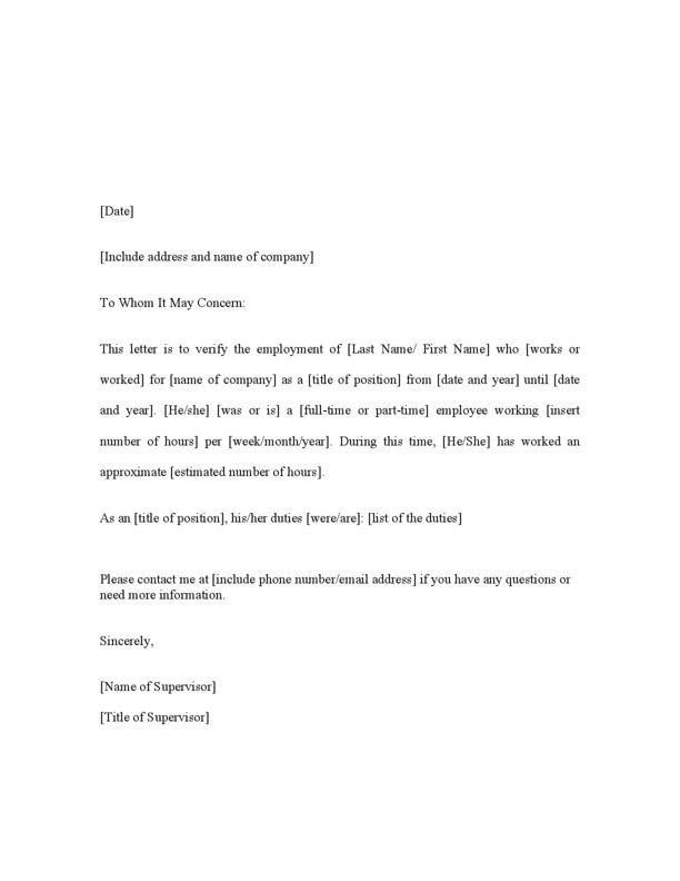 printable employment verification form | node2003-cvresume ...