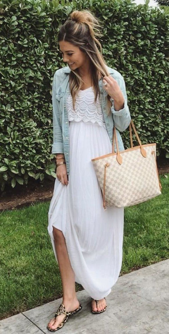 blue cardigan #spring #outfits