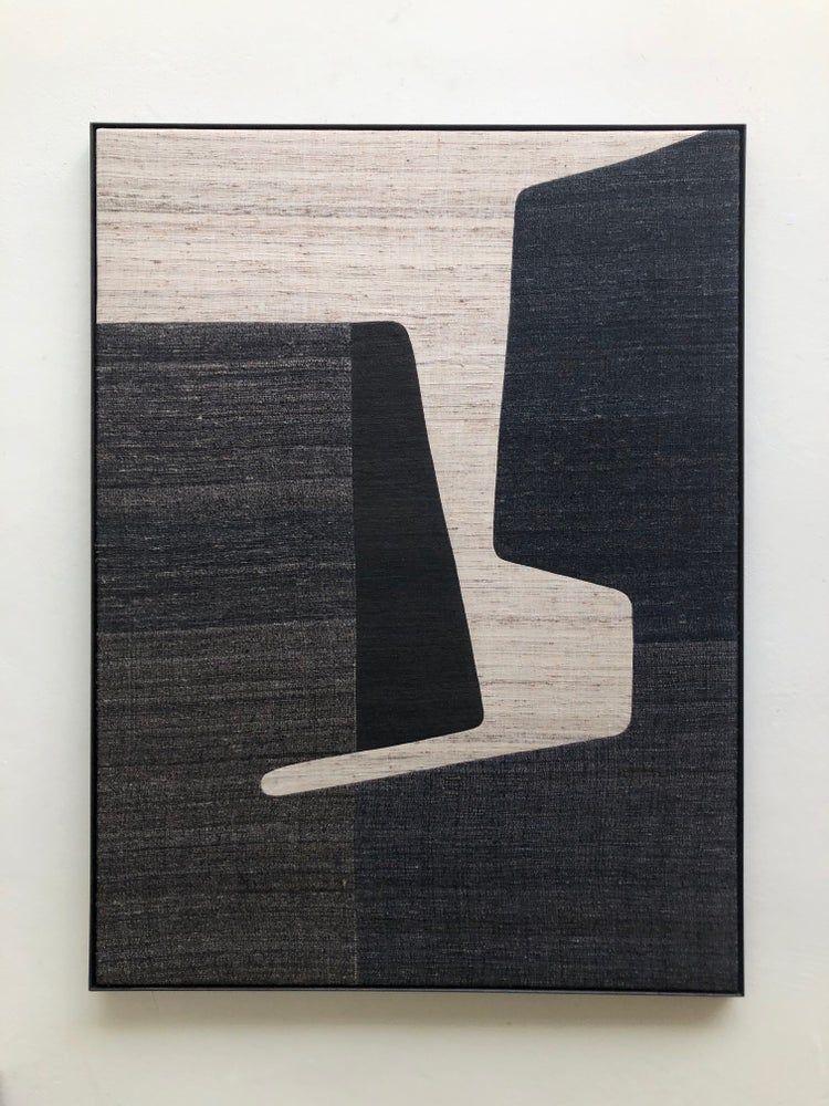 khadi silk composition 2 (black+white) / X+L