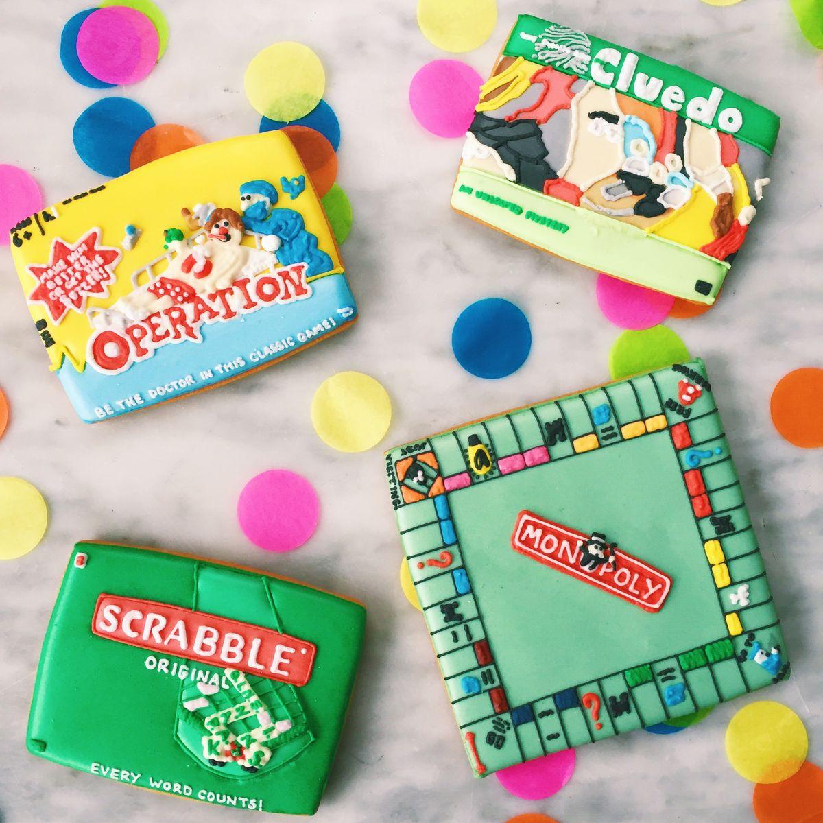 Board Game Biscuits by Biscuiteers