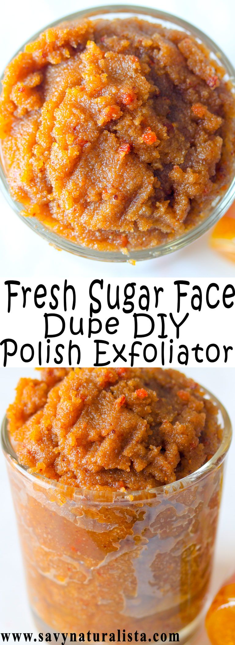Sugar Face Polish Scrub is a wonderful dupe of Fresh Sugar Face Polish that is all natural and won't break the bank!