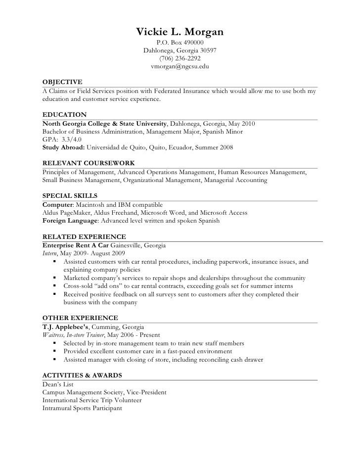 Resume Example Experience Resume Types And Samples, Resume - work experience resume