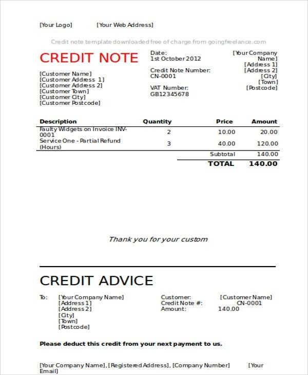 Format For Credit Note Credit Note Template 8 Free Word Pdf - sample credit memo