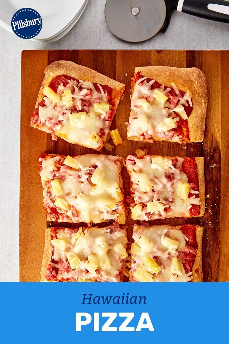 The classic combination of Canadian bacon and pineapple tastes just as good on homemade pizza as it does on delivery! Have littles help add toppings for a dinner that's all fun *and* yum.