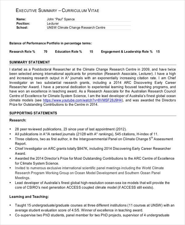 awesome example executive summary format photos best resume it executive summary template - Sample Executive Summary For Resume