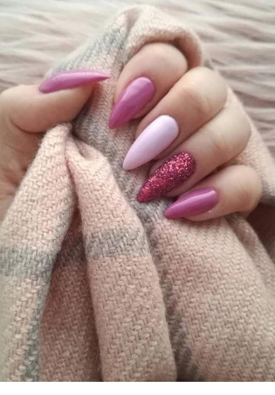 Pink nails for fall winter time