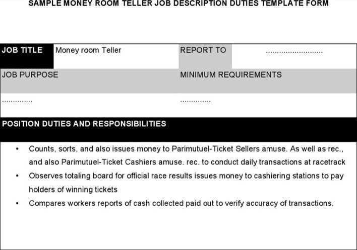 teller job description resume templatebillybullock - bank teller duties