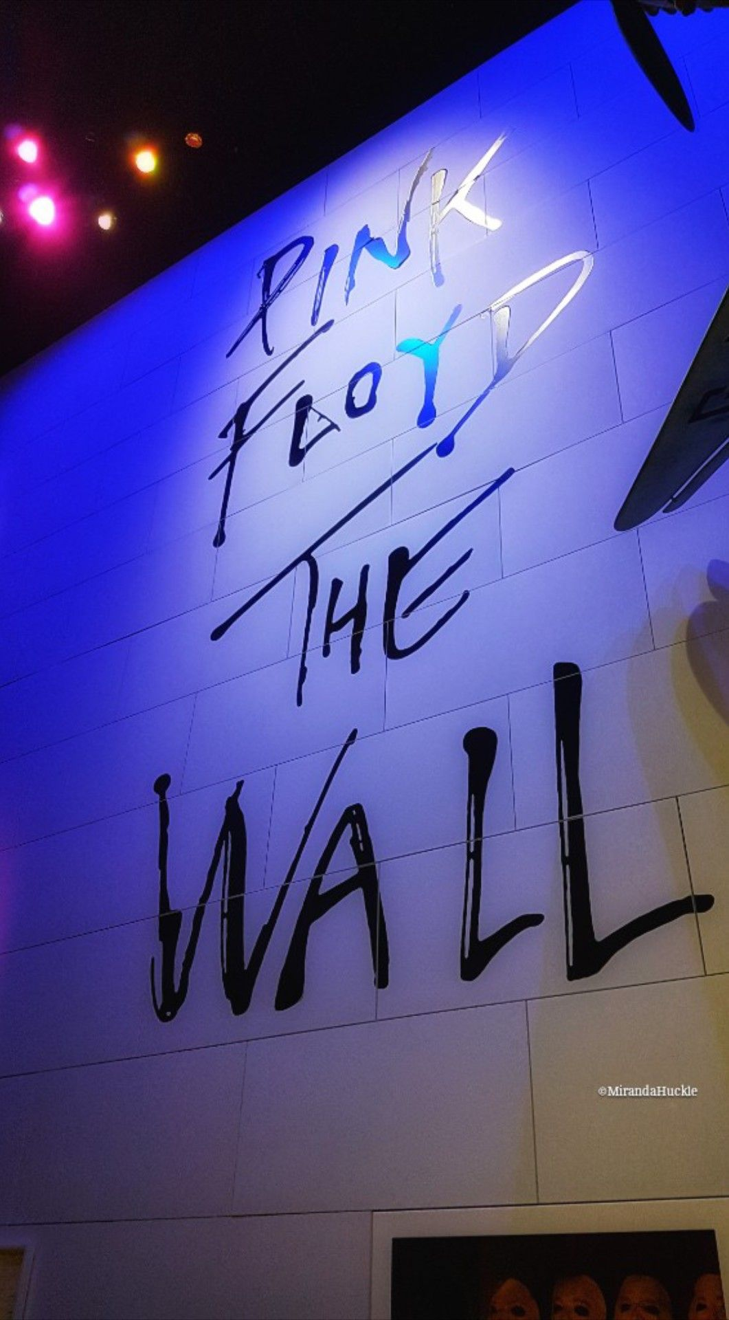 One of the wall displays from the pink floyd exhibition